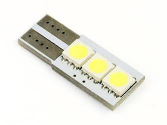 Car LED bulb W5W T10 3 SMD 5050 CAN BUS sided