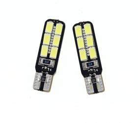 Car LED bulb W5W T10 5630 12 SMD CAN BUS SIDED
