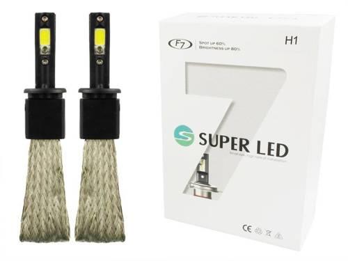 A set of LED bulbs H1 60W COB F7 16000lm