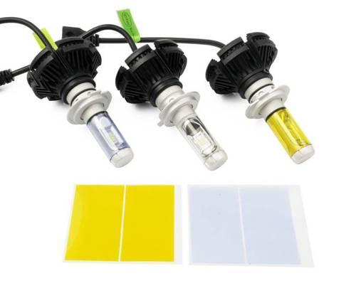 A set of LED bulbs H7 X3 ZES  50W 12000 lm