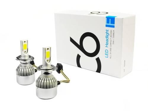 Set of 6 LED bulbs H7 Bridgelux COB ™ 7600 lm