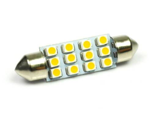 WW C5W LED Bulb Car 12 SMD 1210 White Heat