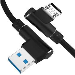AM30   Micro-USB-1M   Abgewinkelte USB-Kabel Ihr Telefon aufzuladen   Quick Charge 3.0 2.4A