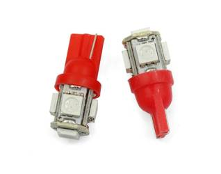 Auto-LED-Lampe W5W T10 5 SMD 5050 RED