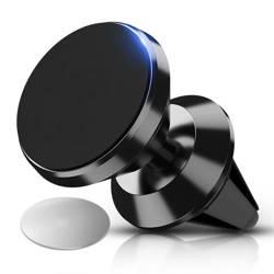 M048-Schwarz | Aluminium magnetischer Telefonhalter | 2 Teller enthalten
