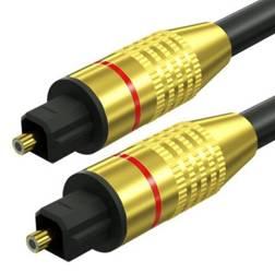 TS07-3-3M-Black | Toslink Optisches Kabel | GOLD - vergoldete Anschlüsse | HQ