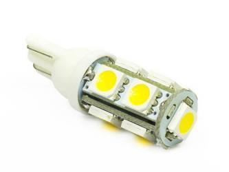 WW LED-Birne W5W Auto T10 9 SMD 5050 White Heat