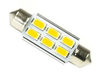 WW LED-Birnen C5W Auto 6 SMD 5630 CAN BUS White Heat