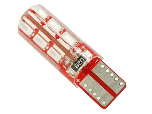 Auto-LED-Lampe W5W T10 3014 24 SMD CAN-BUS-Silikon