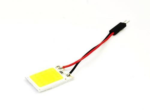 Panel COB-LED-Chip 18 3x6 + Adapter W5W, C5W, T4W