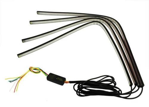 ZW01-4 * 60cm | Set von 4 RGB LED Streifen - verfügt über eine Stopp / Stopp / Blinker