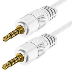 AC-1-1M-White | Kabel Jack z oplotem