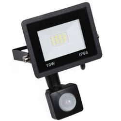 BLS-10W-Black   Naświetlacz LED 10W z czujnikiem ruchu i zmierzchu   950 lm   220V