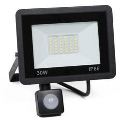 BLS-30W   Naświetlacz LED 30W z czujnikiem ruchu i zmierzchu   3800 lm   220V