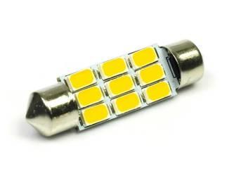 WW Żarówka samochodowa LED C5W 9 SMD 5630 Biała ciepła