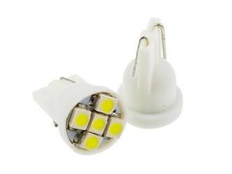 Żarówka samochodowa LED W5W T10 5 SMD 1210