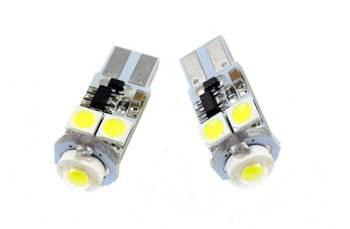 Żarówka samochodowa LED W5W T10 HIGH POWER + 4 SMD 5050 CAN BUS