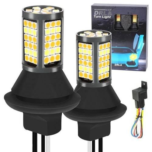 2w1   W21W 81 SMD 3030   Światła LED do jazdy dziennej   AUTOMAT