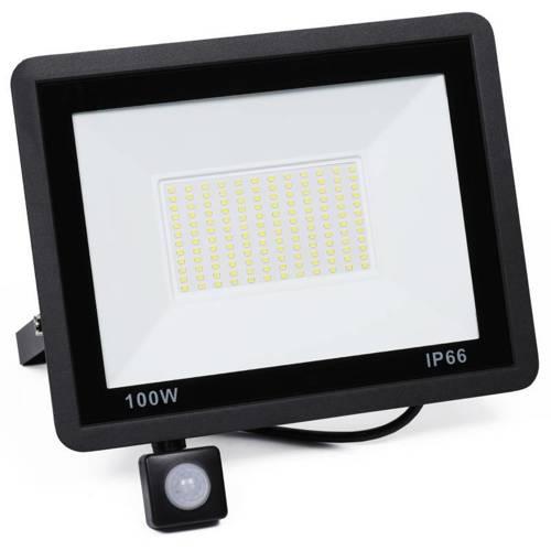 BLS-100W | Naświetlacz LED 100W z czujnikiem ruchu i zmierzchu | 9500 lm | 220V
