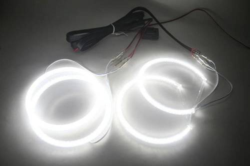 SMD Zestaw ringów LED do E46 coupe po liftingu z soczewką