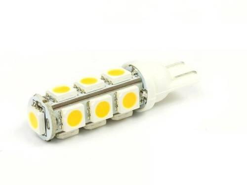 WW Żarówka samochodowa LED W5W T10 13 SMD 5050 Biała ciepła
