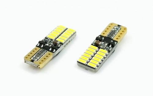 Żarówka samochodowa LED W5W T10 24 SMD 4014 CAN BUS Dwustronna