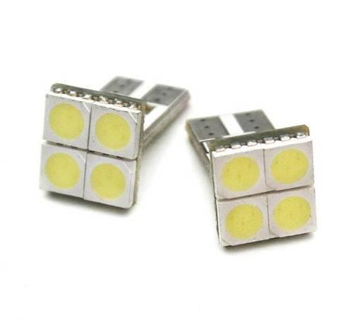 Żarówka samochodowa LED W5W T10 4 SMD 5050 CAN BUS FRONT