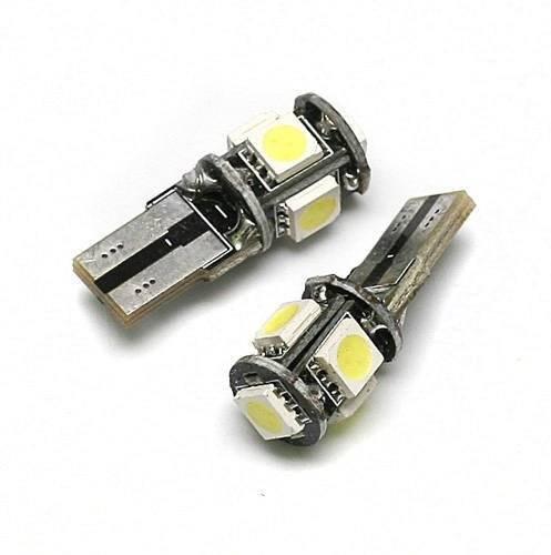 Żarówka samochodowa LED W5W T10 5 SMD 5050 CAN BUS